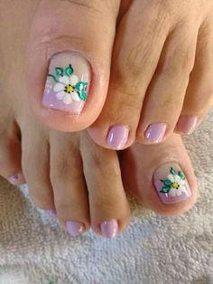 Toe Nail Designs, Thalia, Toe Nails, Tatoos, Creative, Flowers, Fashion, Work Nails, Pretty Toe Nails