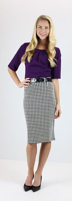 Stretch Pencil Skirt [MSF1565] - $44.99 : Mikarose Boutique, Reinventing Modesty