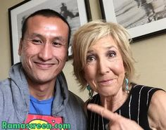 With the godmother of horror, Lin Shaye​ of #InsidiousChapter3  Please LIKE my Facebook page at Facebook.com/ramascreen