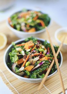 Sweet potato, kale and ginger salad