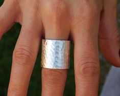 Extra wide band ring Extraordinary ring Wide ring gold Very Gold Band Ring, Gold Bands, Plus Size Rings, Thumb Rings, Wide Band Rings, Boho Rings, Statement Rings, Sterling Silver Rings, At Least