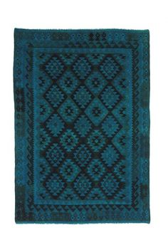 Kilim Overd Dyed Wool Rug - 9ft. 11in. x 6ft. 11in. - Multi