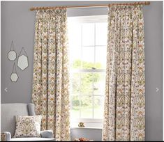 These ready made curtains have a design inspired by the beautiful fruit and vegetable garden at The Chateau, made famous by the TV series 'Escape to the Chateau'. They are finished with a pencil pleat heading and are lined. Available in a variety of sizes, matching tie backs can be purchased to finish the look. The 'Potagerie' collection includes bedding sets, cushions, wallpaper and fabric sold by the metre Cream Curtains, Pleated Curtains, Lined Curtains, Blackout Curtains, Angel Strawbridge, Old Wallpaper, Fabric Wallpaper, Pencil Pleat, Room Darkening Curtains