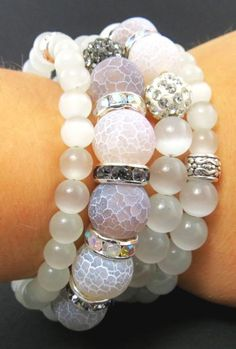 Crystal bracelet made by Olga Nikogosian from LC.Pandahall.com