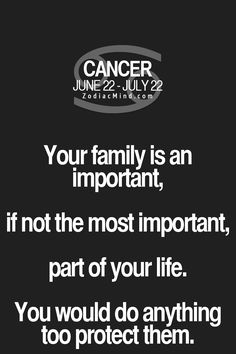 Cancer Zodiac Sign ♋ family