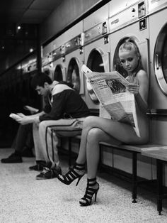 Might have to try a photoshoot at a laundromat sometime. Interesting shapes and usually loads of natural light flooding in from the windows.