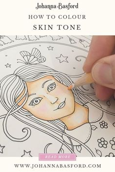 Color Pencil Drawing Tutorial A Johanna Basford tutorial on colouring in realistic skin tone in Ivy and the Inky Butterfly Adult Coloring, Coloring Books, Coloring Pages, Coloring Tips, Colouring In, Colored Pencil Tutorial, Colored Pencil Techniques, Colouring Techniques, Drawing Techniques