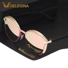 17aec581a07fa Fashion Female Polarized Sunglasses Women Cat Eye Glases Ladies Sun Glasses  Mirror With box oculos de
