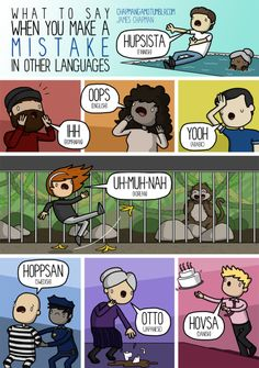 What to say when you make a mistake in other languages