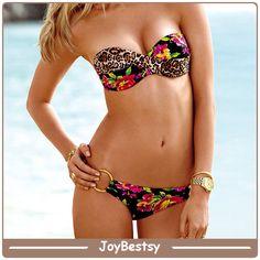 Commercio all'ingrosso senza spalline migliori Ragazza Swimwear Bandeau Bikini