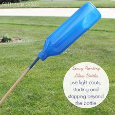 Patriotic Painted Glass Bottles :: Hometalk