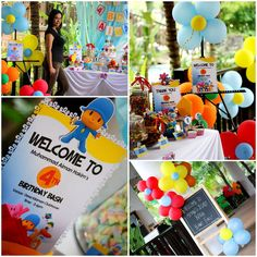 Tres Chic The Party Planner: Aiman's 4th Pocoyo Themed Bday Bash @Desa Idaman Clubhouse,Puchong