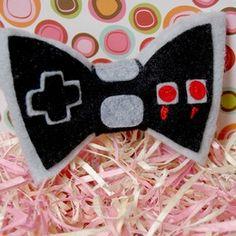 NES Controller Hair Bow