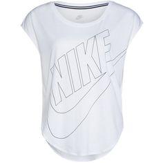 Nike Sportswear SIGNAL Print Tshirt / black ($32) ❤ liked on Polyvore featuring tops, shirts, white, men shirts, print shirts, tall shirts, tall tops and big & tall shirts