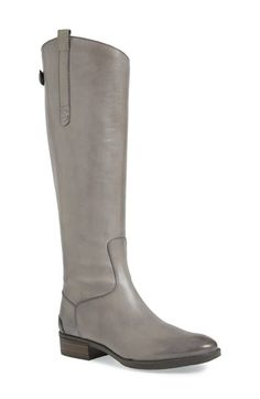 Sam Edelman tall boot in this fabulous on-trend color grey - they zip up the back. #Nordstrom #bestfootforward #greytallboots