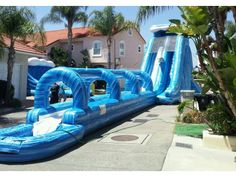 Rent the Super Giant Wave Slip and Slide, the largest inflatable waterslide in So Cal area, perfect for any party or event, only from Magic Jump Rentals. Best Slip And Slide, Giant Slip And Slide, Giant Water Slide, Slip N Slide, Water Slides, Inflatable Water Park, Giant Inflatable, Water Bounce House, Water Play