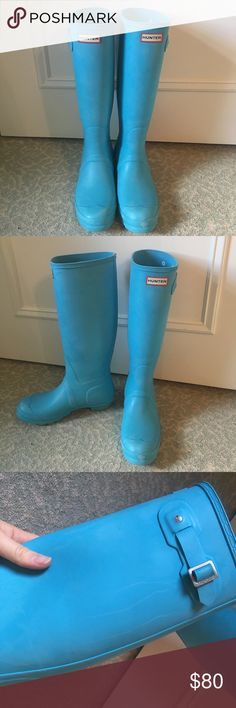 Spotted while shopping on Poshmark: Baby Blue Tall Matte Hunters! #poshmark #fashion #shopping #style #Hunter Boots #Shoes