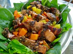 Jamaican Grilled Pork Tenderloin Salad
