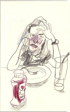 Min - this is a quick sketch I did of you when you don't like your supper!Min - this is a quick sketch I did of you when you don't like your supper! Art And Illustration, Illustrations Posters, Figure Drawing, Painting & Drawing, Body Painting, Drawing Sketches, Art Drawings, Drawing Ideas, Wow Art