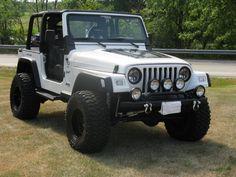 White Jeep TJ