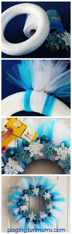 Make your own Frozen Wreath - Elsa would be so proud