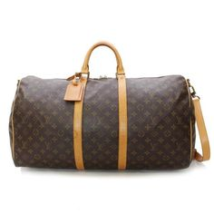 Louis Vuitton Keepall Bandouliere 55 Monogram Luggage Brown Canvas M41414