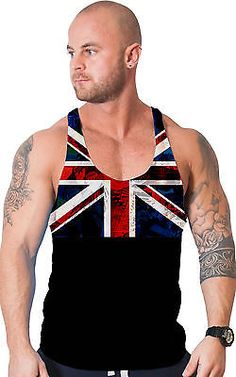 Bodybuilding clothing all over print #stringer vest gym tank #singlet #union jack,  View more on the LINK: 	http://www.zeppy.io/product/gb/2/191736517974/