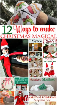 Make Christmas magical for the kids this year with these 12 creative ideas. From elf on the shelf to growing a peppermint there is something for everyone!