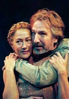 "Alan Rickman as Anthony in ""Anthony and Cleopatra"" theatre play"