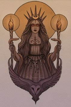 My Hekate (Hecate) tattoo commission by Natasa Ilincic (Not mine, but is very cool nonetheless!)