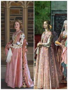 Recreated century gown from a fresco in Italy Italian Renaissance Dress, Mode Renaissance, Costume Renaissance, Medieval Costume, Renaissance Fashion, Renaissance Clothing, Medieval Dress, 15th Century Dress, 15th Century Fashion