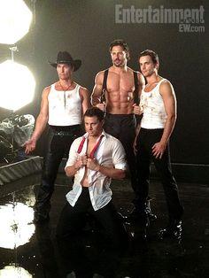 Channing Tatum, Matthew McConaughey, Joe Manganiello and Matto Bomer.