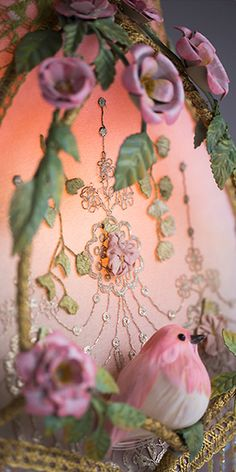 Beaded Victorian Lampshades and Antique Lamps by Nightshades