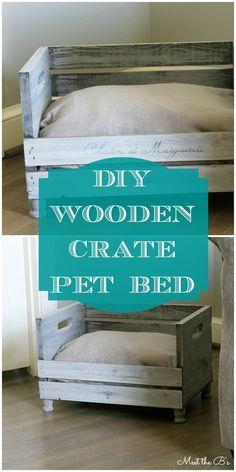 DIY Wooden Crate Pet Bed   Meet the B's