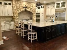 My kitchen. Kitchen, Stone fireplace, Rustic Home