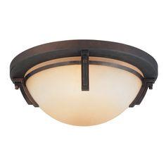 Kendal Lighting Portobello 16.5-in W Oil-Rubbed Bronze Ceiling Flush Mount Light