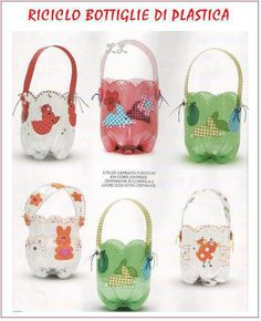 Recycled Easter Baskets using 2 liter bottles!!    Found this on Facebook:    https://www.facebook.com/ManualidadesConBasura