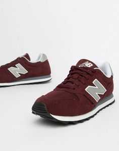 size 40 19075 119a7 New Balance Burgundy Suede 373 Trainers Sneakers Bordeaux, Baskets, Asos,  New Balance Trainers