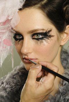 Chanel Haute Couture Spring/Summer 2013 show, Grand Palais, Paris -   Girl Scout fashion show makeup idea