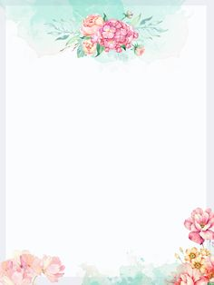 Small fresh watercolor painted background Flower Background Wallpaper, Paint Background, Flower Backgrounds, Wallpaper Backgrounds, Mises En Page Design Graphique, Free Printable Stationery, Borders For Paper, Decoupage Vintage, Floral Border