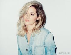 Exclusive:+Ashley+Tisdale+Shows+Off+4+Ways+To+Style+A+Summer+Lob+via+@byrdiebeauty