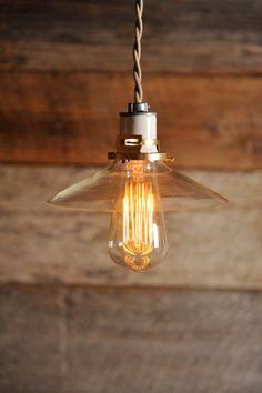 Mini Glass Edison light pendant
