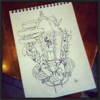 Lantern Tattoo by MonteyRoo