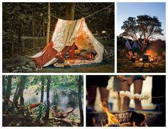 camping, outdoors, campfires