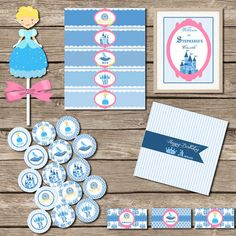 This listing is for a beautiful and charming Blue Cinderella Style Princess Printable Party! ___________________________________________________________________________ HOSTING A PARTY FOR TWO CHILDREN? You will need to add this $5.00 listing to your cart: Cinderella Cupcakes, Printable Party, Host A Party, Second Child, Princess Party, Fairy Tales, Cart, Children, Unique Jewelry