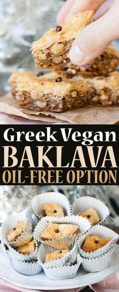 Greek Vegan Baklava with Oil-Free Option | www.veggiesdontbite.com | #vegan #plantbased #sponsored via @veggiesdontbite
