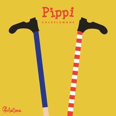 """Pippi Calzelunghe – Grafica  28 gennaio 2002 – Ricordiamo Astrid Lindgren (14 novembre 1907, 28 gennaio 2002), autrice delle avventure di """"Pippi Calzelunghe"""", le sue opere sono state tradotte in più di 60 lingue. Every Day – GELATINA DESIGN"""