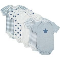 """Rene Rofe"" Five Pack Of Baby Grows - TK Maxx"