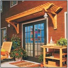The pergola kits are the easiest and quickest way to build a garden pergola. There are lots of do it yourself pergola kits available to you so that anyone could easily put them together to construct a new structure at their backyard. Diy Pergola, Pergola On The Roof, Rustic Pergola, Building A Pergola, Small Pergola, Pergola Canopy, Pergola Attached To House, Metal Pergola, Outdoor Pergola