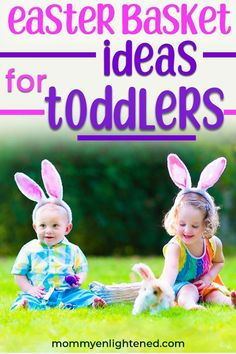 Easter basket ideas for toddlers: 5 awesome ideas to inspire you, plus a simple formula to help you create the perfect Easter basket for your child! Easter Baskets For Toddlers, Easter Crafts For Kids, Easter Activities, Activities For Kids, Gentle Parenting, Natural Parenting, Parenting Tips, Easter Bunny Decorations, Basket Ideas